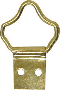 Fancy loop hanger brass