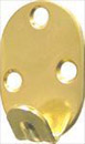 heavy duty picture hook 3 hole brass plated