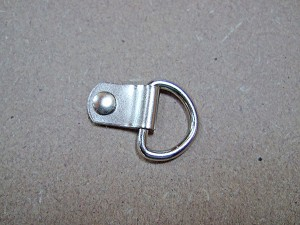 D-Ring with Bifurcated Rivet