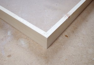 Box frame walls with v-nail join