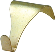 picture rail hook brass plated