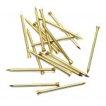 Solid Brass Panel Pins 25mm